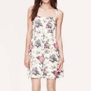 Ann Taylor LOFT White Blue Pink Floral Dress